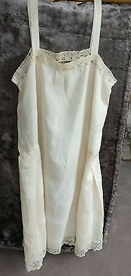 Antique 1920 Peggy Lef Flapper Lingerie Silk Lace Camisole Slip Crocheted Lace