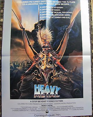 HEAVY METAL Animated Rock n Roll Classic! 1981 Original Advance MOVIE POSTER