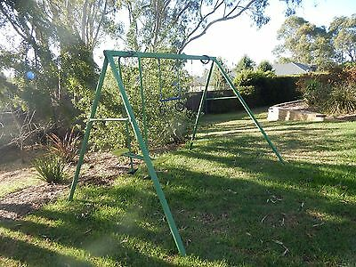 Outdoor Play Swing set, rings and seesaw