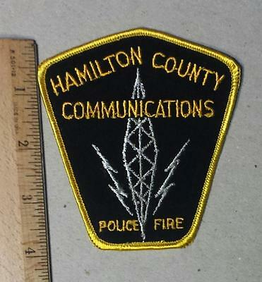 Vintage Hamilton County Communications Police & Fire Iron/Sew on Patch