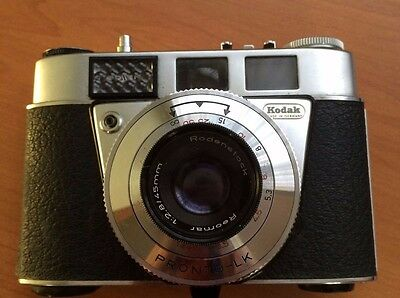 Vintage Camera Kodak Retinette 1B with leather case and strap1960s