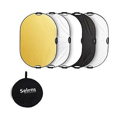 Selens 5-in-1 24x36 inch Oval Reflector with Handle for Photography Photo Studio