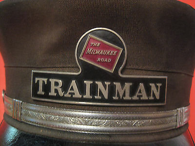 Original Vintage C.m.s.p. & P Railroad Railway Railroad Trainman Hat & Badge