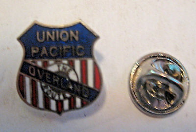 Nos Vintage Union Pacific The Overland Route Railroad Railway Advertising Pin