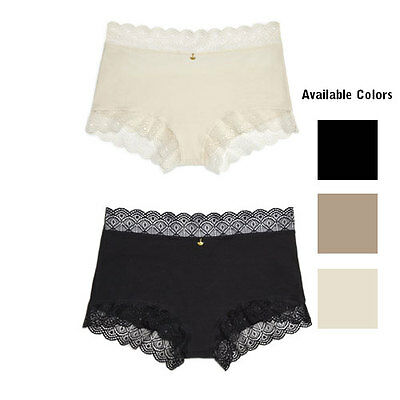 New Lace Cotton Boyleg Brief Pant Cream,beige, Black Size 8,10,12,14,16,18,20,22