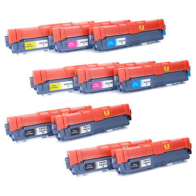 10 Pk TN221 BK TN225 Color Toner For Brother MFC-9130CW MFC-9330CDW MFC-9340CDW