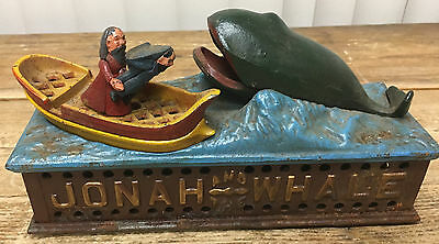 Jonah and The Whale Mechanical Bank Reproduced From Original Book of Knowledge