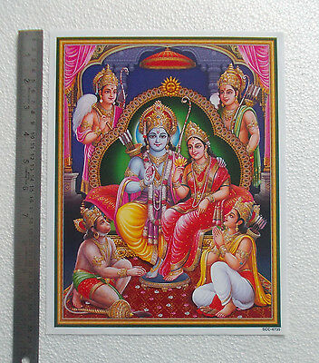 "LORD RAMA DARBAR - Normal Paper POSTER (9""x11"")"