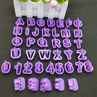 40Pcs Alphabet Number Letter Fondant Cake Decorating Icing Cutter Mold Mould HOT