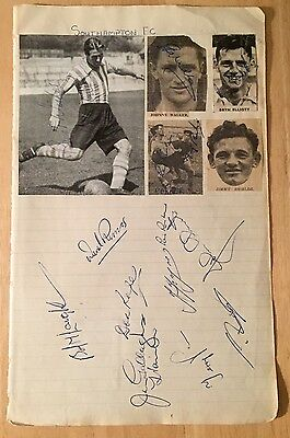 Southampton Football Club Players Autographs Signatures 1950's Footballers