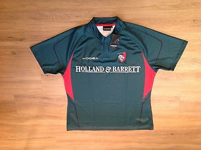 Leicester Tigers Short Sleeve Matchday Training Rugby Shirt.