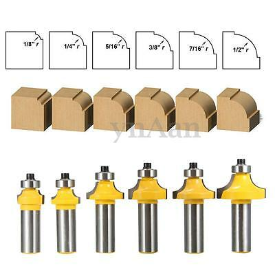 """1/2"""" Shank Round Over Bearing Edging Router Bit Woodworking Chisel Cutter Set"""