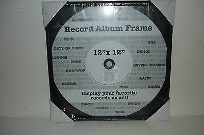 Black Vinyl Record Album Glass Frame 12 x 12 Records Wall Display NEW in Wrap