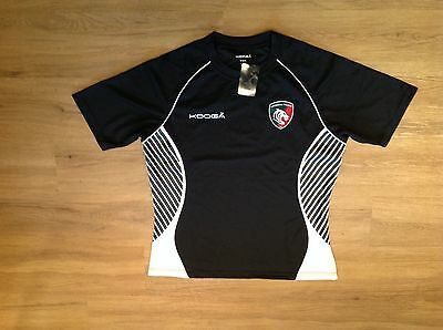 Leicester Tigers Short Sleeve Try Panel Match Rugby Shirt.
