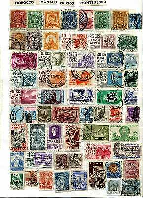 Large selection of stamps of Mexico, most on old album pages.