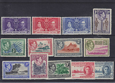 British Solomon Islands KGVI Mounted Mint Collection