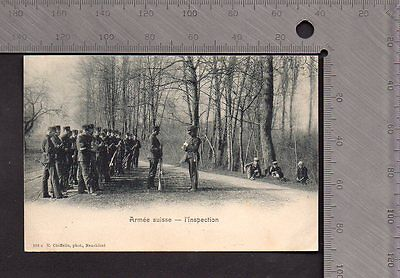 Switzerland - Military Inspection - Early Pub E.Chiffelle No.298c