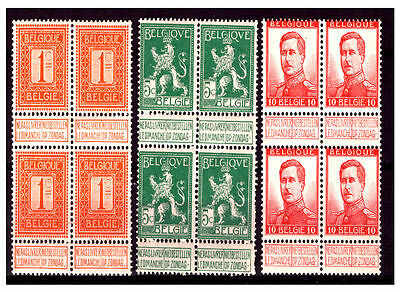 Belgium Block Stamps With Tab. Mint No Hinge.   #499