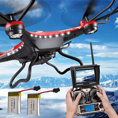 FPV JJRC H8D 6Axis Gyro RC Quadcopter Drone 5.8G HD Camera + Monitor + 2 Battery