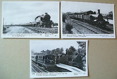 Verney Junction  Brill Station  and  Rickmansworth 3 Real Photographs