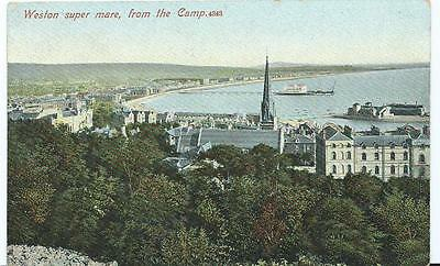 Vintage Colour Postcard of Weston super Mare from The Camp