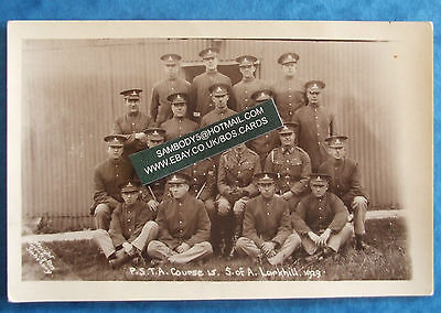 KNIGHT,DURRINGTON MILITARY RP Postcard 1929 LARKHILL - P.S.T.A. COURSE S.OF A.