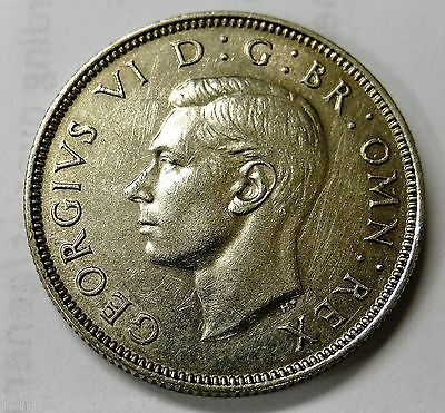 1937 George VI Silver Two Shilling Coin / Florin  EF/Unc