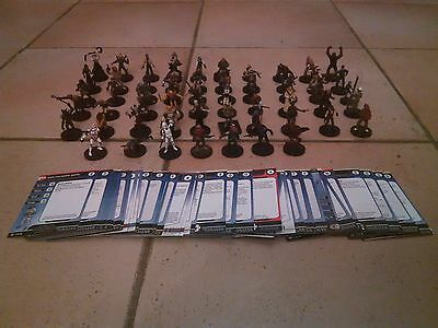 Lot 57 figurines Star Wars Mini Miniatures With cards #B