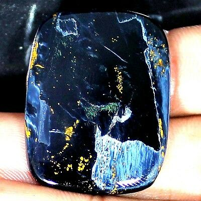 48.65 CTs 100% Natural African Gray Power PIETERSITE Cushion Cabochon Gemstone