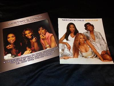 Destiny's Child/Beyonce *8 Survivor/Remix 12x12 Promo Cardboard Poster Flats!