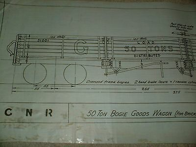 Great North Railway Brick Traffic Goods Wagon Drawing Edwards Bros