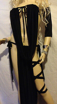 Princess Slave Silks Gorean Costume Kajira Cosplay Clubwear Burningman Black
