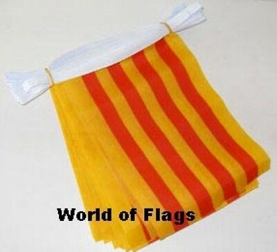 CATALONIA BUNTING Spain Spanish Catalan Flag 9m 30 Polyester Fabric Party Flags
