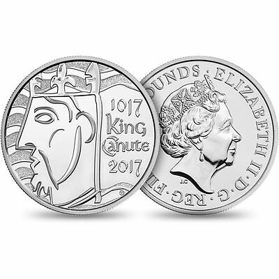 GREAT BRITAIN £5 2017 from BU set, copper nickel, Canute King 1017