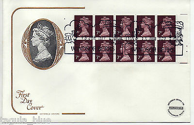 1977 FD1B Machin definitive booklet pane First Day Cover