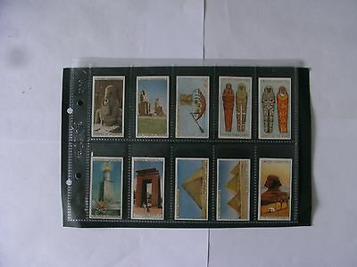 Full Set x 50 Wills Cigarette Cards. + Sleeves.  Wonders of the Past. 1926.