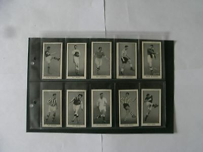 Full Set x 24 Cards Wizard Famous Footballers. + Sleeves.