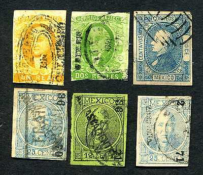 Extremely old stamps of Mexico.