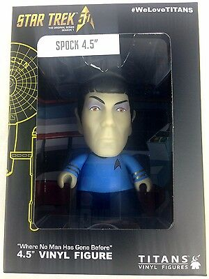 "Star Trek Mr. Spock Titan Vinyl 4.5"" Figure NYCC 2016 Exclusive - Mint in Box"