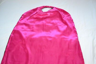 Hen Night Party Weekend Adult Superhero Cape Black Pink Double Sided.