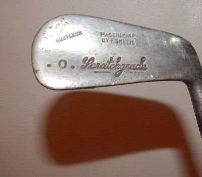 SMYTH Vintage GOLF CLUB No 4 SPORTS SCRATCHGRADE Early Steel Shafted SPORTS Rare