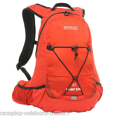 Regatta 20L Rucksack with 2L Hydration Bladder Water Pack Hiking Cycling Bag Red