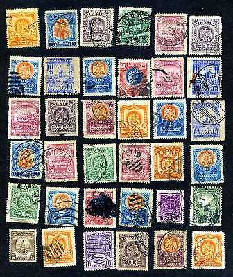 Large selection of very old stamps of Mexico, 8 scans.