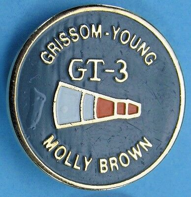 NASA PIN enamel GEMINI 3 - Grissom Young - Molly Brown - SPACE FLIGHT Astronaut
