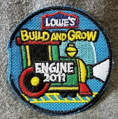 LMH PATCH Badge  2011 TRAIN ENGINE Steam Locomotive  LOWES Build Grow Clinic