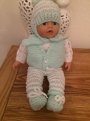Lovely Handknitted Outfit Fits Small Annabell Doll