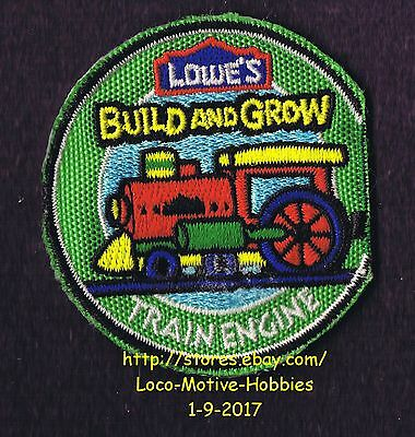 LMH PATCH Badge 2010 TRAIN ENGINE Steam Locomotive LOWES Build Grow Clinic green
