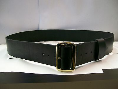 "Santa Claus All Leather 3"" Wide Black Belt Locally Manufactured Made in USA"