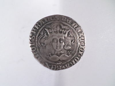 Siver Hammered Coins-Henry V1 1422-30 Groat Mm Rosette Mascale Issue/calais