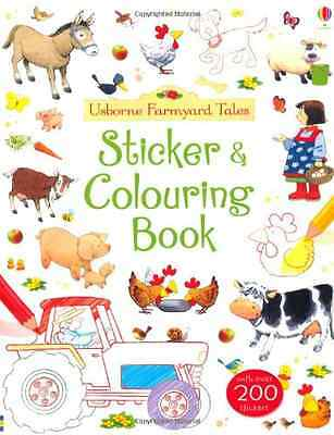 Farmyard Tales Sticker and Colouring Book - Paperback NEW Felicity Brooks 2013-0